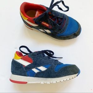 Reebok Red Blue Yellow Classic Sneakers Boys 9